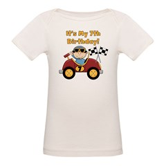 Race Car 7th Birthday Organic Baby T-Shirt