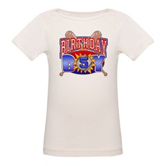 Baseball Boy 5th Birthday Organic Baby T-Shirt
