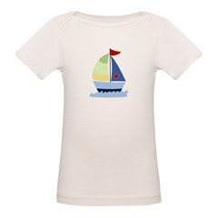 Nautical Sailboat Organic Baby T-Shirt