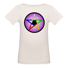 Elemental Pentacle Baby Creeper - 5 Elements Organic Baby T-Shirt
