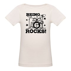 Cute 6th Birthday Organic Baby T-Shirt