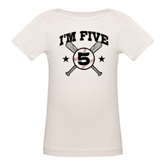 5 Year Old Organic Baby T-Shirt