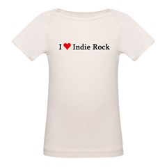 I Love Indie Rock Infant Creeper Organic Baby T-Shirt