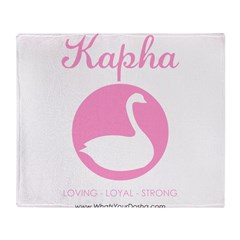 Kapha swan Throw Blanket