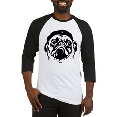 Pug Revolutionary Icon- Ash Grey Baseball Jersey