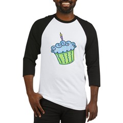 Cute Cupcake (blue) Baseball Jersey