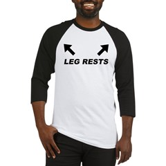 Leg Rests Ash Grey Baseball Jersey