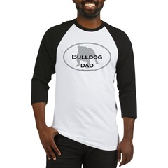 Bulldog DAD Ash Grey Baseball Jersey