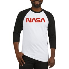 NASA Red Worm Lo Baseball Jersey