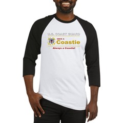 Once a Coastie - Always a Coastie Baseball Jersey