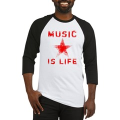 Music is Life Baseball Jersey