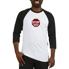 Stop Animal Abuse Baseball Jersey
