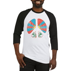 Free Tibet Peace Sign Baseball Jersey