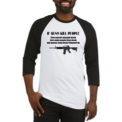 3-Guns dont kill people.jpg Baseball Jersey
