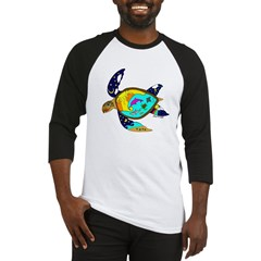 Earth Day Sea Turtle Baseball Jersey