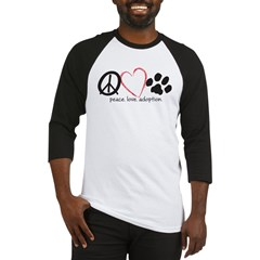 peace love adoption.001 Baseball Jersey