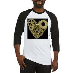Women's Steampunk Heart T-Shirt (black) Baseball Jersey