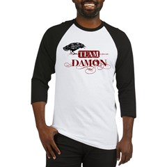 Vampire Diaries Team Damon red Baseball Jersey