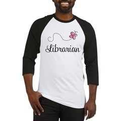 Cute Librarian Baseball Jersey