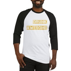 drunk awesome_dark Baseball Jersey