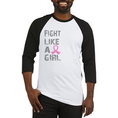 Fight Like A Girl Breast Cancer D 21.8 Baseball Jersey
