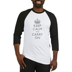 Keep Calm And Carry On (Shadow 999) Baseball Jersey