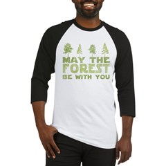 may the forest be with you light green.PNG Baseball Jersey
