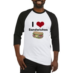 i love sandwiches Baseball Jersey