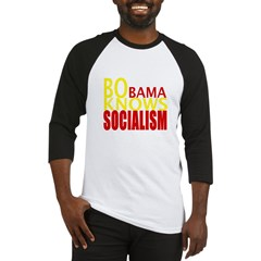 Barack Obama Knows Socialism Baseball Jersey