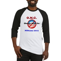 OMG Obama Must Go Baseball Jersey