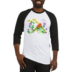 Humming Flowers by Nancy Vala Baseball Jersey