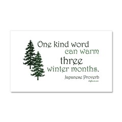Kind Word Car Magnet 20 x 12