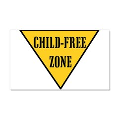 Child-Free Zone Car Magnet 20 x 12