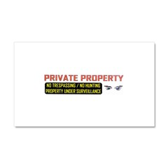 3 x 10 No Trespassing Decal Car Magnet 20 x 12