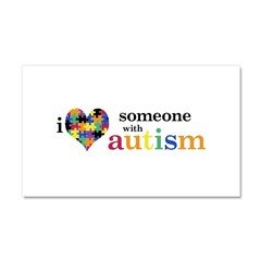 I HEART Someone with Autism - Car Magnet 20 x 12