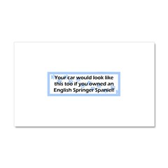 Your Car English Springer Spaniel Car Magnet 20 x 12