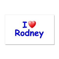 I Love Rodney (Blue) Car Magnet 20 x 12
