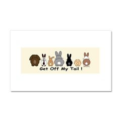 Get Off My Tail Car Magnet 20 x 12
