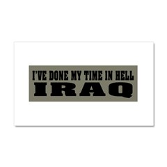 Iraq-Hell Car Magnet 20 x 12