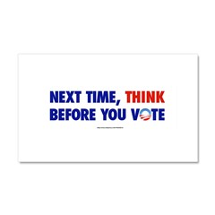 """Think 2012"" Car Magnet 20 x 12"