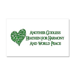 Godless For World Peace Car Magnet 20 x 12
