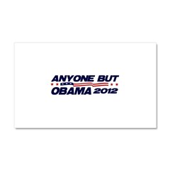 Anyone But Obama Car Magnet 20 x 12