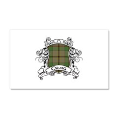 Craig Tartan Shield Car Magnet 20 x 12