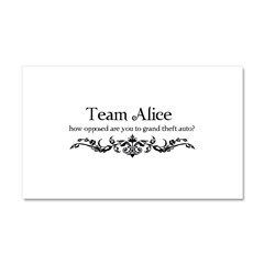 Team Alice Theft Car Magnet 20 x 12