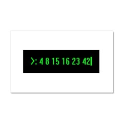 Numbers Car Magnet 20 x 12