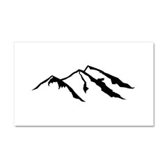 Mountains Car Magnet 20 x 12