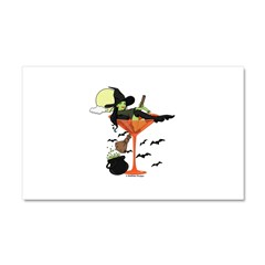 Halloween Martini Girl Car Magnet 20 x 12