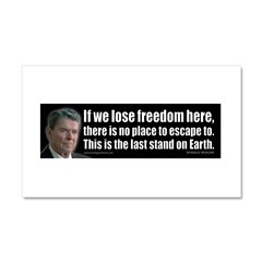 If we lose freedom here... Car Magnet 20 x 12