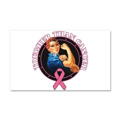 Tougher Than Breast Cancer Ro Car Magnet 20 x 12