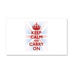 Keep Calm and Carry On Car Magnet 20 x 12